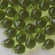 8mm Olive Green Teardrop Beads [50]