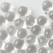 8mm Clear Teardrop Beads [50]