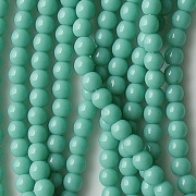 4mm Greenish Turquoise Beads [100]