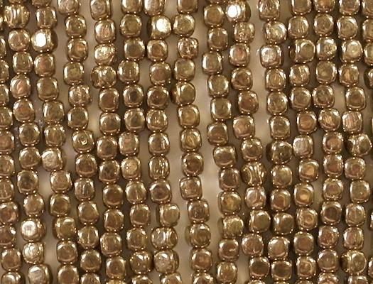 3.5mm Bronze Cube Beads [100]
