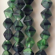 6mm Green Tiger Matte Bicone Beads [50]