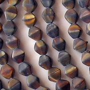 6mm Brown Tiger Matte Bicone Beads [50]