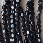 3.5mm Black Cube Beads [100]