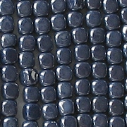 3.5mm Opaque Navy Blue Luster Cube Beads [100]