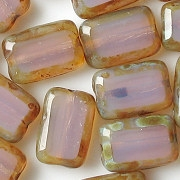 12mm Milky Light Amethyst Polished Rectangle Beads [20] (see Comments)