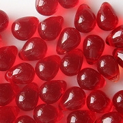 8mm Siam Ruby Teardrop Beads [50]