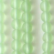 6mm Light Green Matte Beads [50]