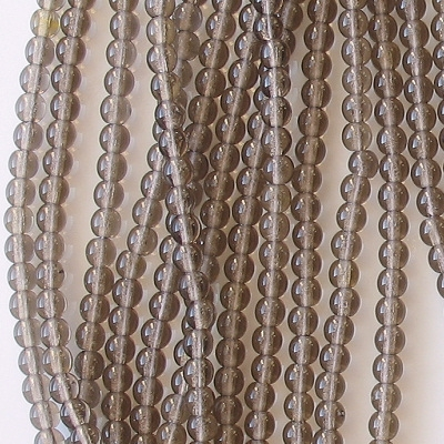 4mm Smoky Topaz (Brown) Round Beads [100]