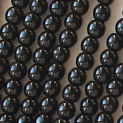 4mm Black Beads [100]