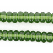 3x6mm Olive Green Rondelle Beads (50)