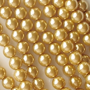6mm Gold-Colored Glass Pearls [75]