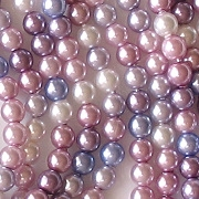 4mm 'Lavender Haze' Mixed Glass Pearls [100]