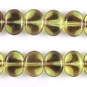 10x12mm Yellow/Amethyst Flat Oval Beads [50]
