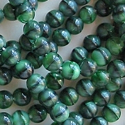 6mm Green Tiger Round Beads [50]