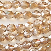 6mm Golden Celsian Faceted Round Beads [50]