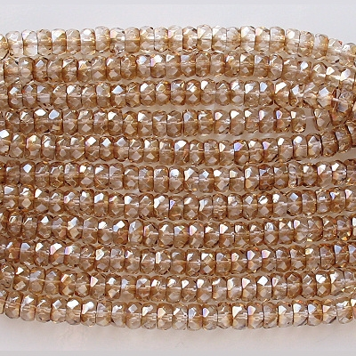 3x6mm Celsian Faceted Rondelle Beads [50]