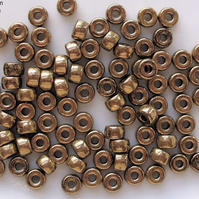 4x6mm Bronze Pony Beads [50] (see Comments)