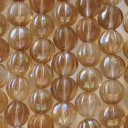 8mm Clear Celsian Fluted Beads [50]