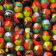 6mm Multicolored 'Confetti' Faceted Beads [50]