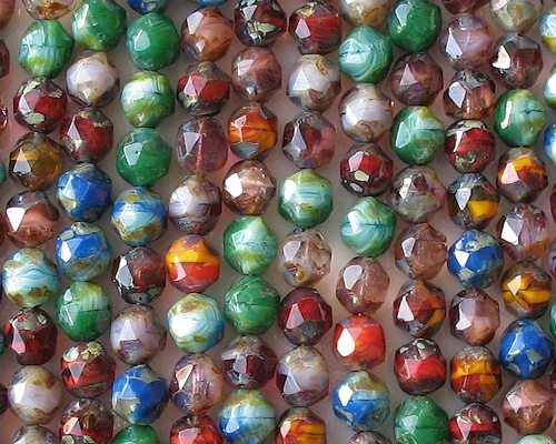 8mm Picasso Baroque Faceted Beads [25]