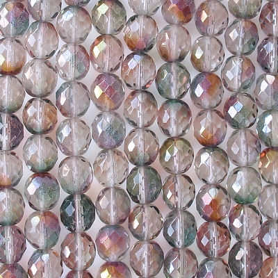 10mm 'Crystal Monet' Faceted Beads [20]
