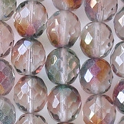 10mm 'Crystal Monet' Faceted Round Beads [20]