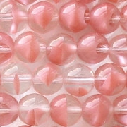 8mm Pink Givre Round Beads [50]