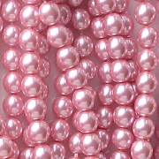 6mm Dusky Pink Glass Pearls [80]