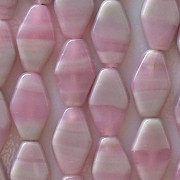 13mm Pink/Gray Long Diamond Beads [50]