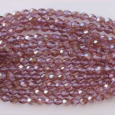 6mm Alexandrite Celsian Faceted Round Beads [50]