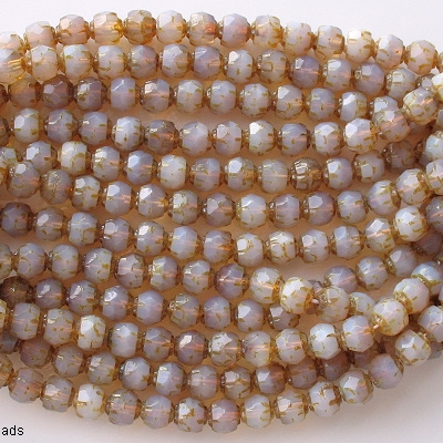 6mm Milky Amethyst 'Renaissance' Faceted Beads [50]