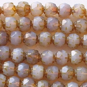 6mm Milky Amethyst Faceted 'Renaissance' Beads [50] (see Comments)
