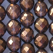 10mm Bronze/Purple Faceted Beads [20]