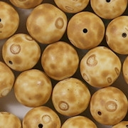11mm Yellow Mottled Ceramic Round Beads [31]