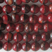 6mm Red Tiger Round Beads [50]
