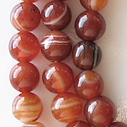 8mm Carnelian Beads [47-49] (see Defects)