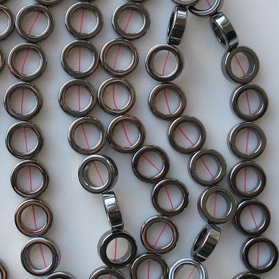 12mm Hematite Ring Beads [20]