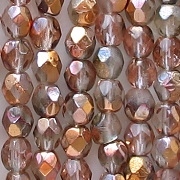 4mm Gold Apollo Faceted Round Beads [100] (see Comments)