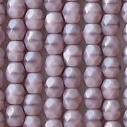 4mm Opaque Lavender Faceted Round Beads [100]