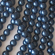 4mm Dark Blue Glass Pearls [118+]