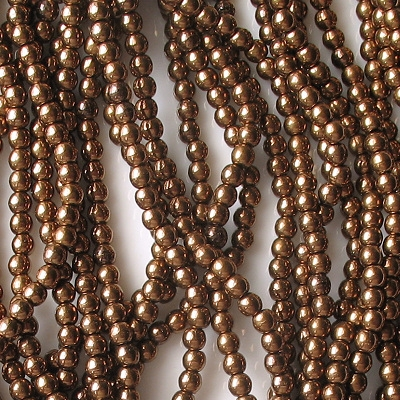 3mm Dark Bronze Round Glass Beads [100]