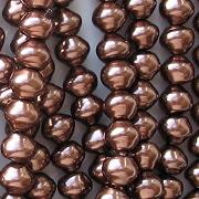 6mm Dark Bronze Snail-Shell Glass Pearls [50]