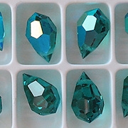 15mm Zircon AB Cut-Crystal Teardrop Beads [5] (see Comments)
