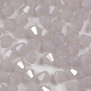 4mm Milky Light Amethyst Opalescent Cut-Crystal Bicone Beads [50]
