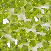 4mm Chrysolite Iris Cut-Crystal Bicone Beads [100]