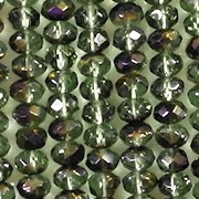 3x5mm Forest Green Azuro Faceted Rondelle Beads [50]