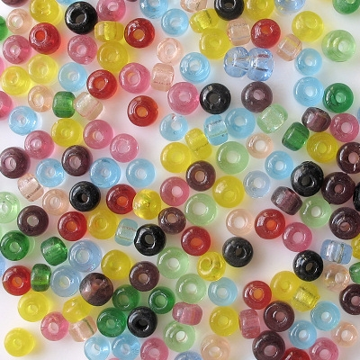 4mm to 5mm Mixed Color Pony Beads [100]