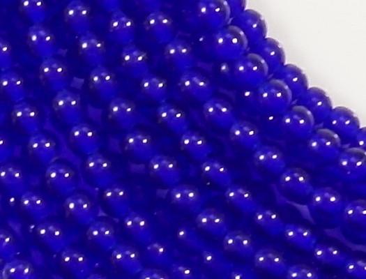 4mm Cobalt Blue Round Beads [100]