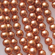 4mm 'Cinnamon' Round Glass Pearls [118+] (see Comments)