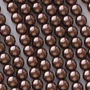 4mm Dark Bronze Round Glass Pearls [118+]